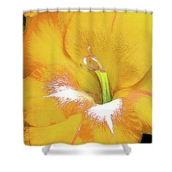 Big Glad In Yellow Shower Curtain
