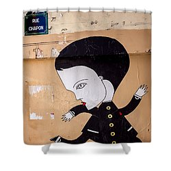 Big Head On Rue Chapon Shower Curtain
