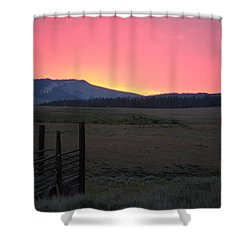 Big Horn Sunrise Shower Curtain by Diane Bohna