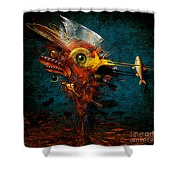 Shower Curtain featuring the painting Big Hunter by Alexa Szlavics