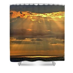 Shower Curtain featuring the photograph Big Island Rays by DJ Florek