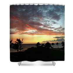 Shower Curtain featuring the photograph Big Island Sunset #2 by Anthony Jones