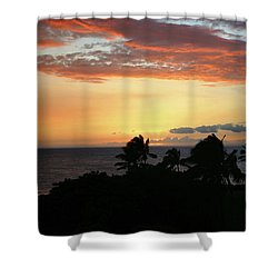 Shower Curtain featuring the photograph Big Island Sunset by Anthony Jones