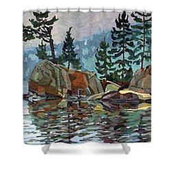 Big Joe Mufferaw Pines Shower Curtain