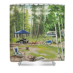 Big Lake 2015 Shower Curtain