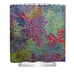Big Leaf Maple Abstract Shower Curtain