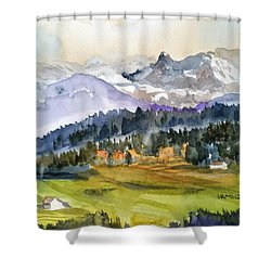 Big Mountain Sunset Shower Curtain