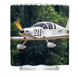 Big Muddy Air Race Number 211 Shower Curtain