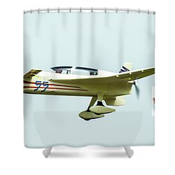 Big Muddy Air Race Number 55 Shower Curtain