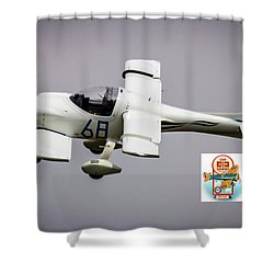 Big Muddy Air Race Number 68 Shower Curtain