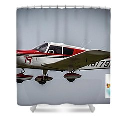 Big Muddy Air Race Number 79 Shower Curtain