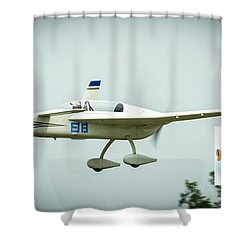 Big Muddy Air Race Number 88 Shower Curtain