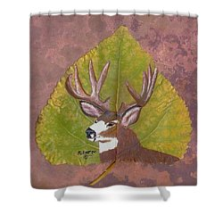 Big Mule Deer Buck Shower Curtain