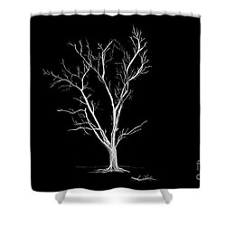Big Old Leafless Tree Shower Curtain