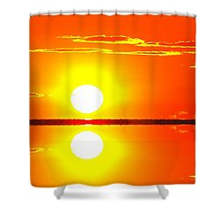 Shower Curtain featuring the photograph Big Old Sunrise 2 Reflective  by Lyle Crump