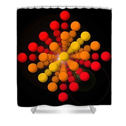 Big Red Figure Shower Curtain