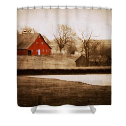 Big Red Shower Curtain by Julie Hamilton