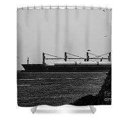 Big Ship Shower Curtain