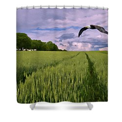 Shower Curtain featuring the photograph Big Sky by David Dehner