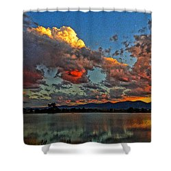Big Sky Shower Curtain by Eric Dee
