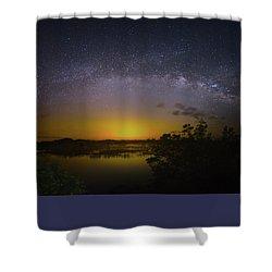 Big Sky Galaxy Shower Curtain by Mark Andrew Thomas