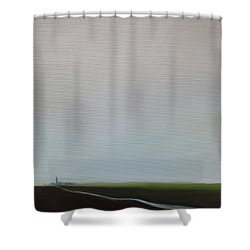 Shower Curtain featuring the painting Big Sky by Tone Aanderaa