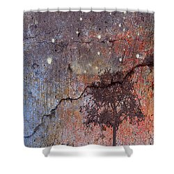 Shower Curtain featuring the mixed media Big Stars by Jessica Wright