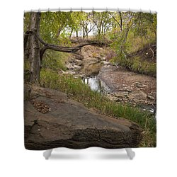 Big Stone Creek Shower Curtain by Ricky Dean