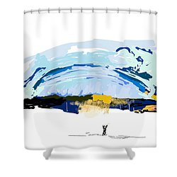 Big Storm Coming Shower Curtain