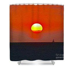 Big Sun Shower Curtain