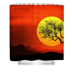 Big Sunset Shower Curtain