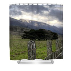 Big Sur Fence Line Shower Curtain