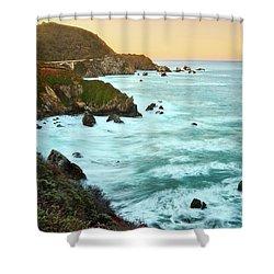Big Sur Sunrise Shower Curtain