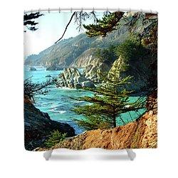 Big Sur Vista Shower Curtain by Charlene Mitchell