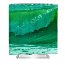 Big Surf 2 Shower Curtain by John Wartman