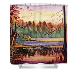 Big Thicket Swamp Shower Curtain