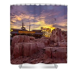 Big Thunder Mountain Sunset Shower Curtain