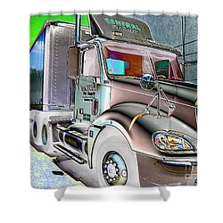 Big Truck Shower Curtain
