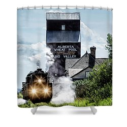 Big Valley Steam Shower Curtain by Brad Allen Fine Art