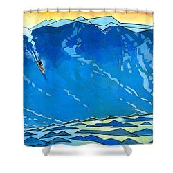 Big Wave Shower Curtain