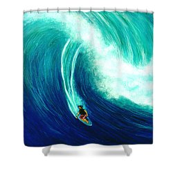 Big Wave North Shore Oahu #285 Shower Curtain by Donald k Hall