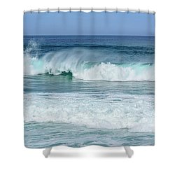 Shower Curtain featuring the photograph Big Waves by Marion McCristall