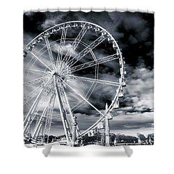 Big Wheel In Paris Shower Curtain by John Rizzuto