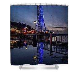 Big Wheel Reflection Shower Curtain