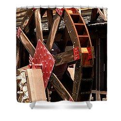 Big Wheels Keep On Turning Shower Curtain by LeeAnn McLaneGoetz McLaneGoetzStudioLLCcom