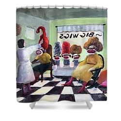 Big Wigs And False Teeth Shower Curtain