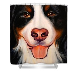 Big Willie Shower Curtain by Shannon Grissom