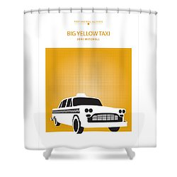 Big Yellow Taxi -- Joni Michel Shower Curtain