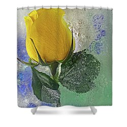 Shower Curtain featuring the digital art Big Yellow by Terry Foster