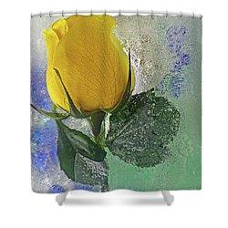 Big Yellow Shower Curtain
